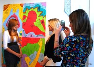 WWW Co-founders Kacey Sutton & Nikki Randolph interviewing WWW student Yaya.